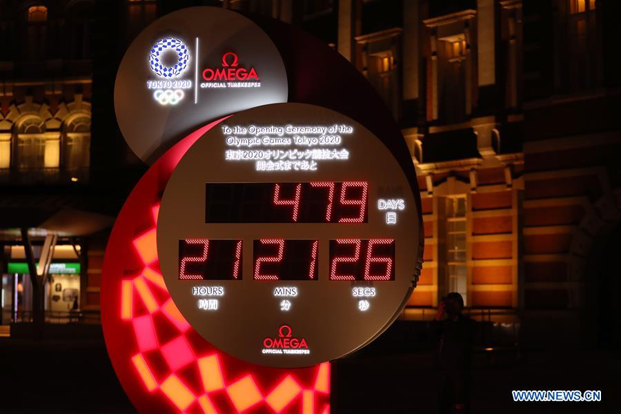 (SP)JAPAN-TOKYO-OLYMPICS-COUNTDOWN-CLOCK
