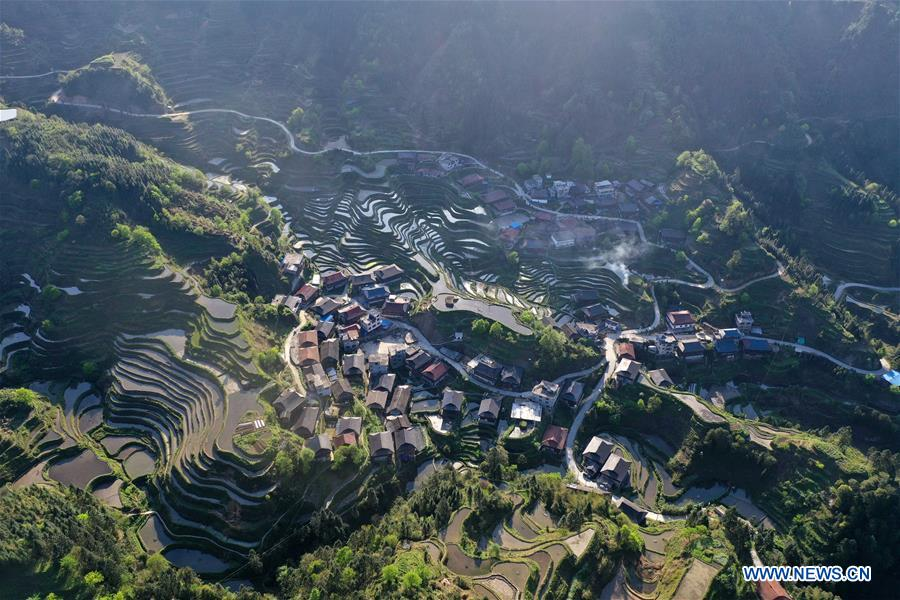 CHINA-GUANGXI-RONGSHUI-MIAO ETHNIC GROUP-SPRING SCENERY (CN)