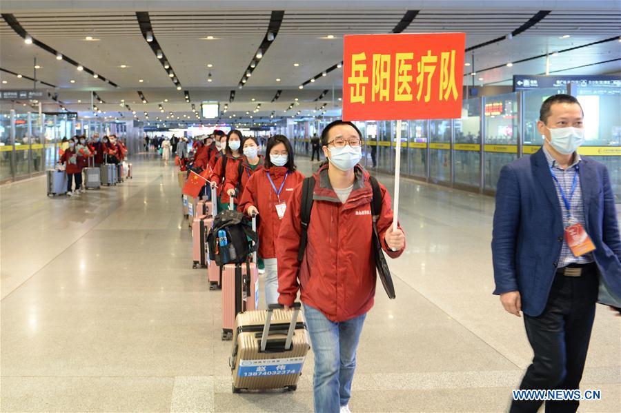 湖北省中国·湖南·长沙-医疗队返回