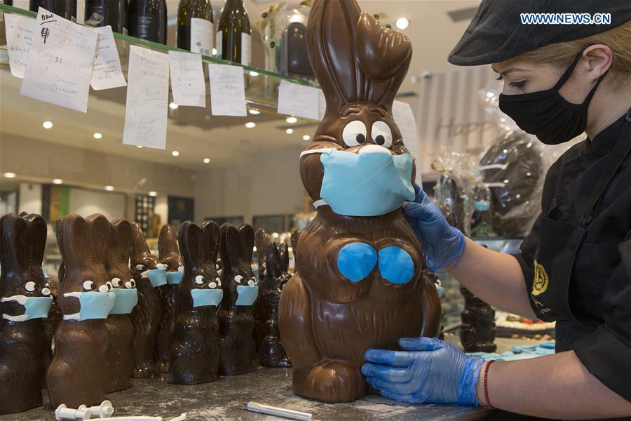 希腊雅典巧克力复活节兔子面具
