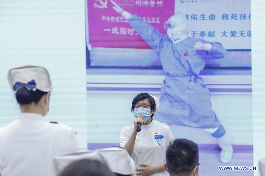Newly Recruited Nurses Attend Capping Ceremony in Beijing