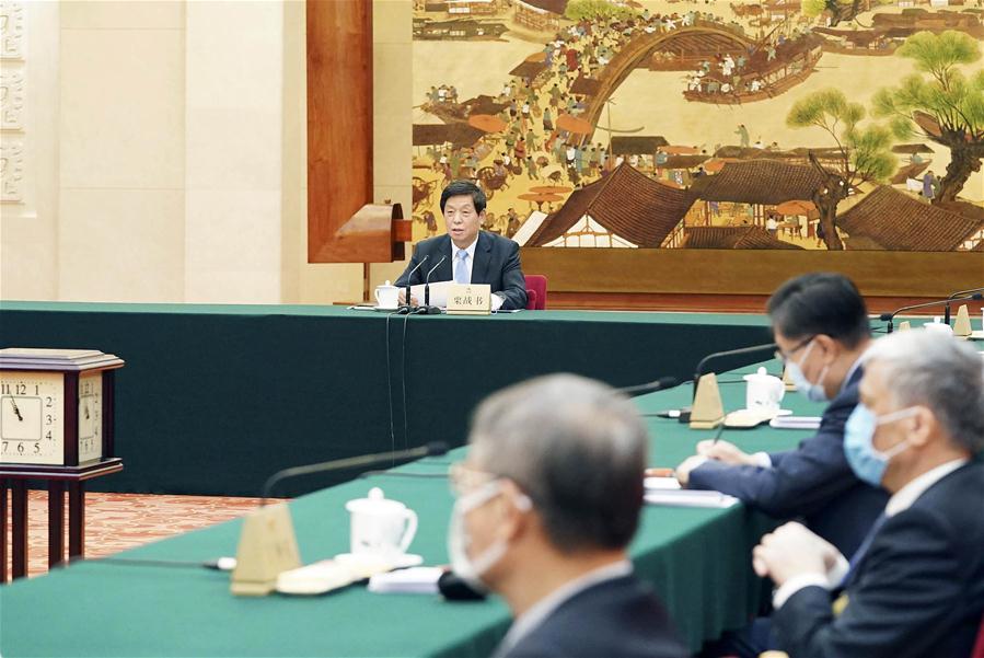 中国北京李占书全国人大会议(CN)