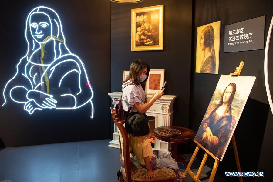 Art Exhibition 'Tribute to Da Vinci' Held in Changsha
