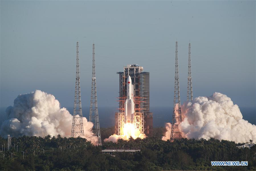 CHINA-HAINAN-LONG MARCH-5B-LAUNCH (CN)