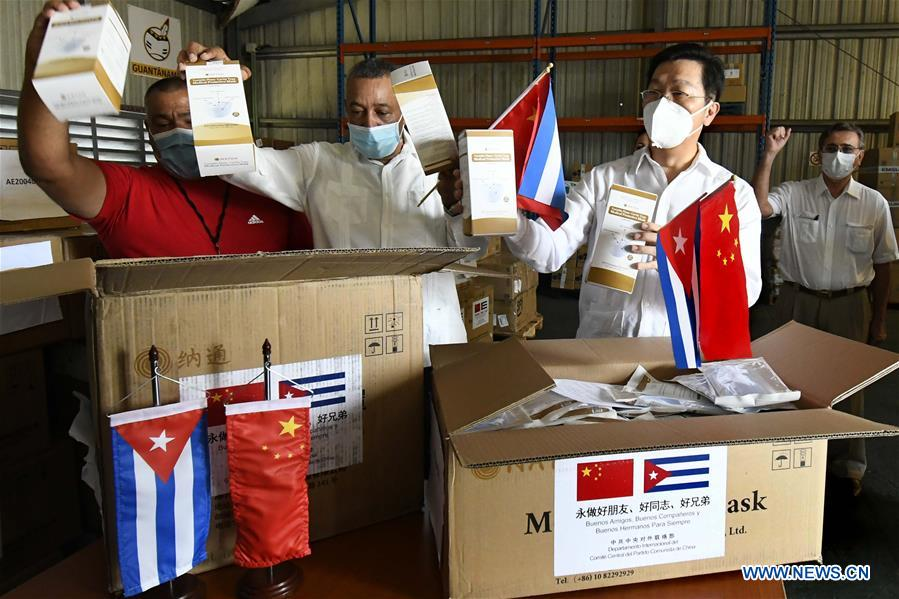 CUBA-HAVANA-COVID-19-CHINA-MEDICAL SUPPLIES-DONATION