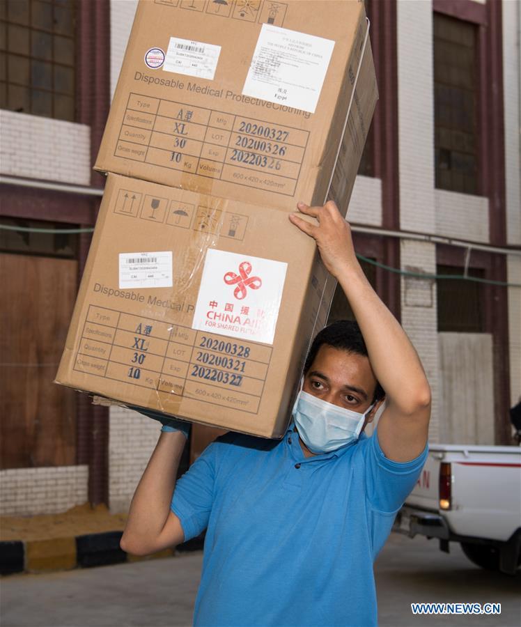 EGYPT-CAIRO-CHINA-MEDICAL AID-COVID-19
