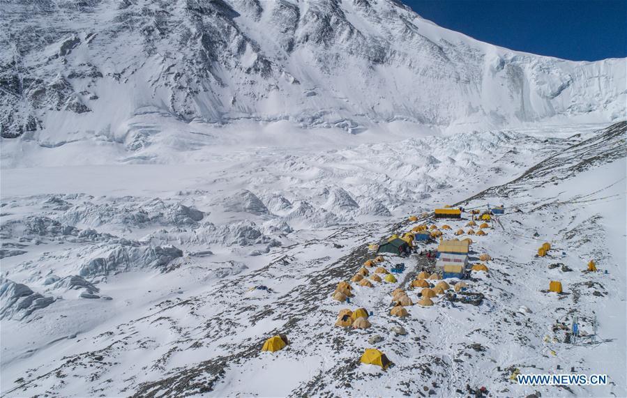 (InTibet) CHINA-TIBET-MOUNT QOMOLANGMA-REMEASUREMENT-ADVANCE CAMP (CN)