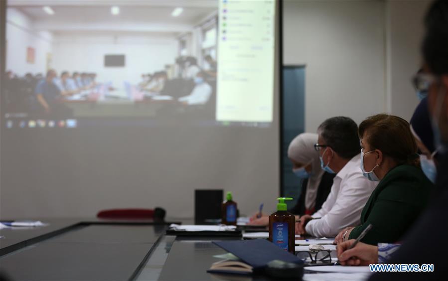 PALESTINE-RAMALLAH-CHINA-MEDICAL EXPERTS-VIDEO MEETING