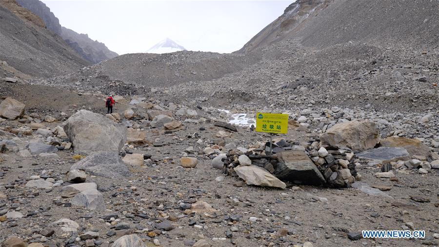 (InTibet)CHINA-TIBET-MOUNT QOMOLANGMA-TRANSITION CAMP-VIEW (CN)