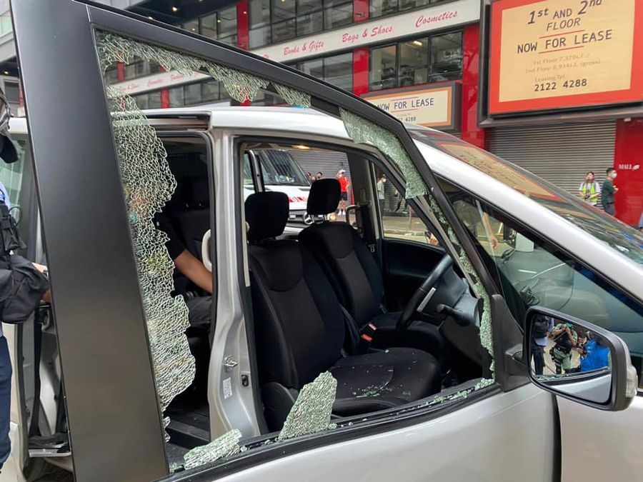 Liaison office of China's central gov't in HKSAR condemns violence, illegal actions for endangering national security - Xinhua | English.news.cn