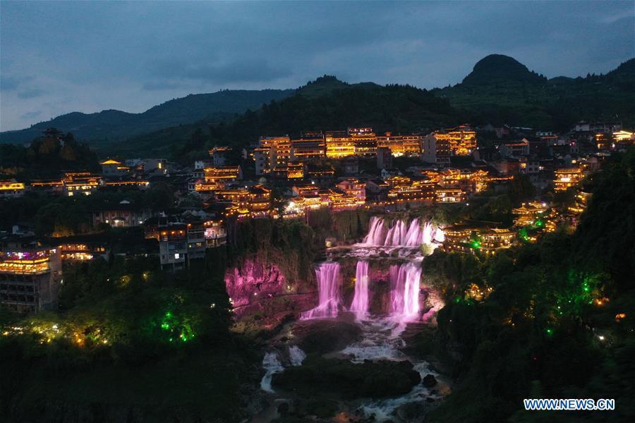 CHINA-HUNAN-XIANGXI-NIGHT VIEW (CN)