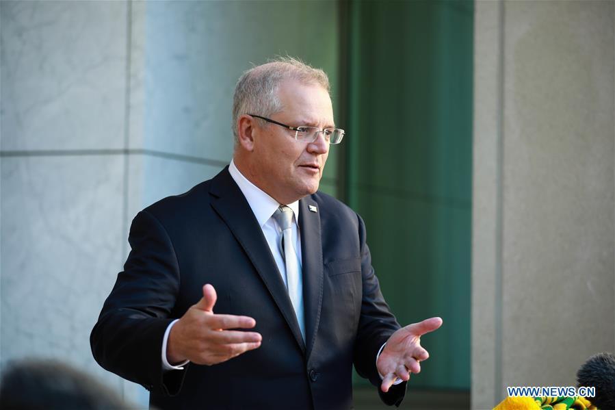 澳大利亚-堪培拉-PM-COVID-19-新闻发布会