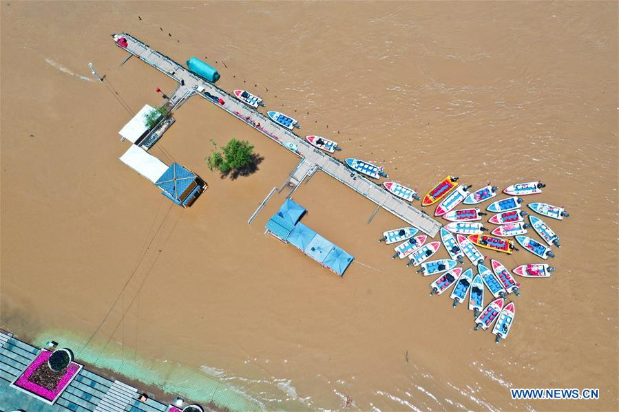 中国-甘肃-兰州-黄河水位(CN)