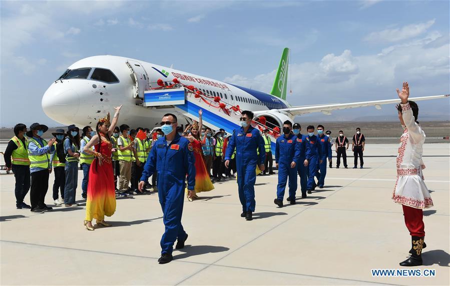 CHINA-XINJIANG-TURPAN-C919 JET-TEST FLIGHT (CN)