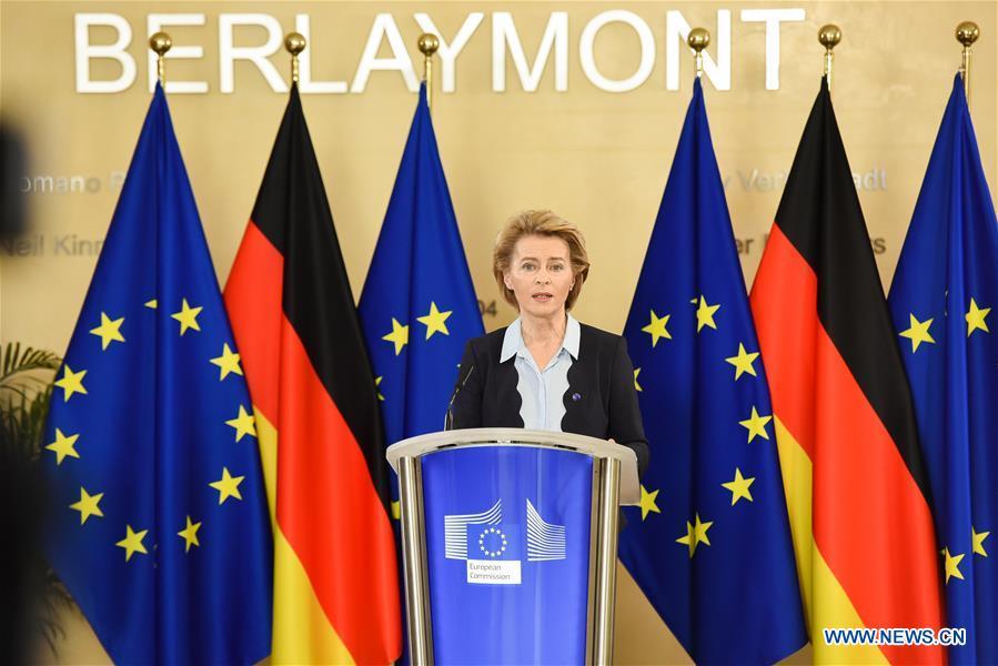 BELGIUM-BRUSSELS-EU-PRESIDENT-GERMAN CHANCELLOR-VIDEO PRESS CONFERENCE