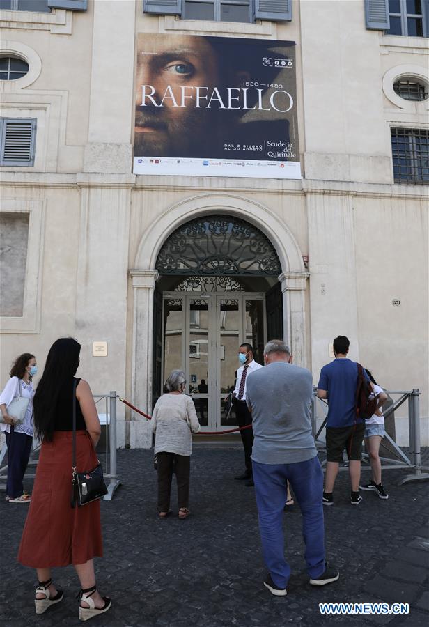 ITALY-ROME-COVID-19-RAPHAEL EXHIBITION