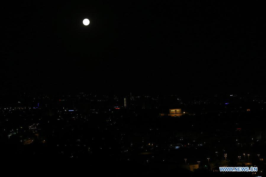 TURKEY-ANKARA-FULL MOON