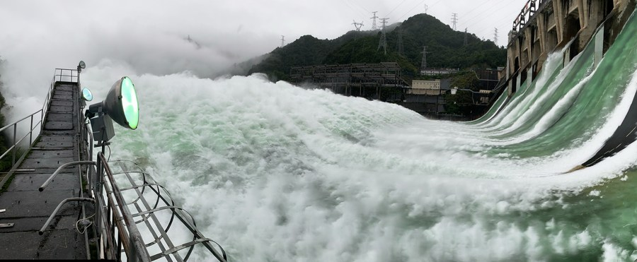Major reservoir opens spillways 1st time in 9 years to discharge flood in east China - Xinhua   English.news.cn