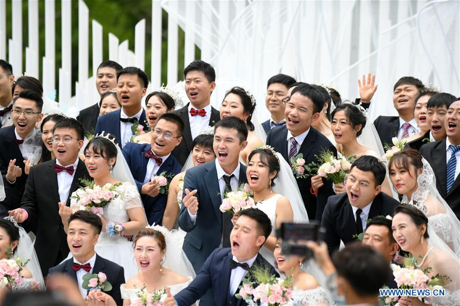 Group Wedding for COVID-19 Fighters Held in Jilin, NE China