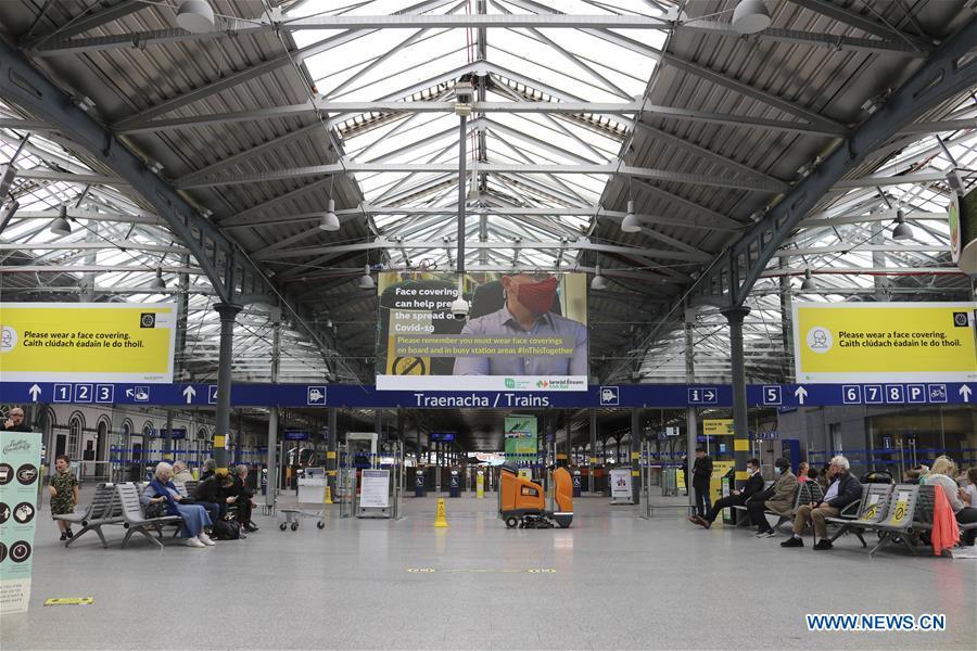 IRELAND-DUBLIN-PUBLIC TRANSPORT-MASK-WEARING-MANDATORY