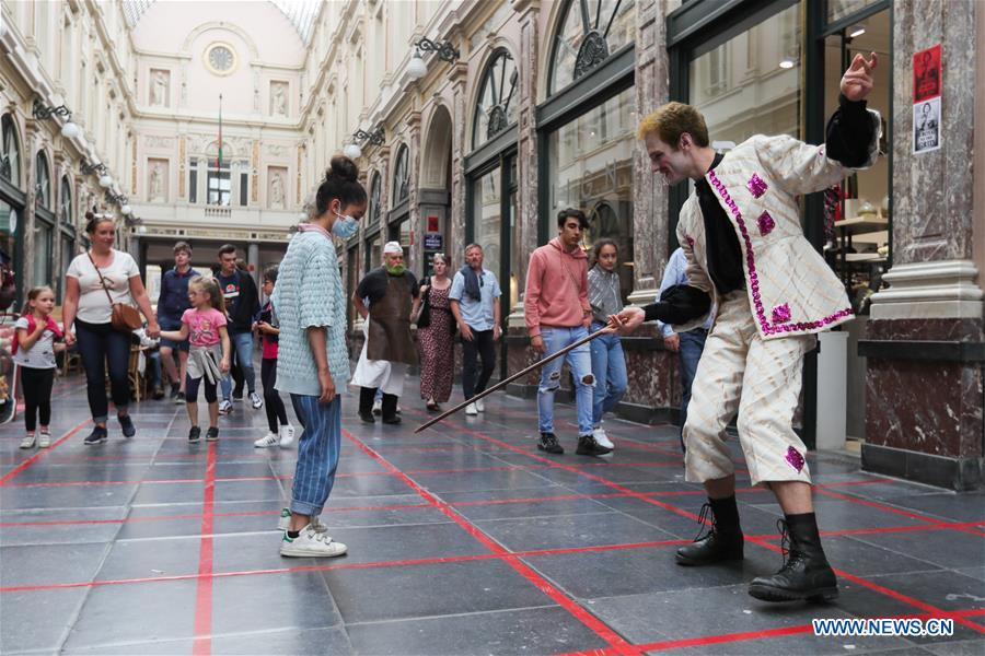 BELGIUM-BRUSSELS-SOCIAL DISTANCING-GAME