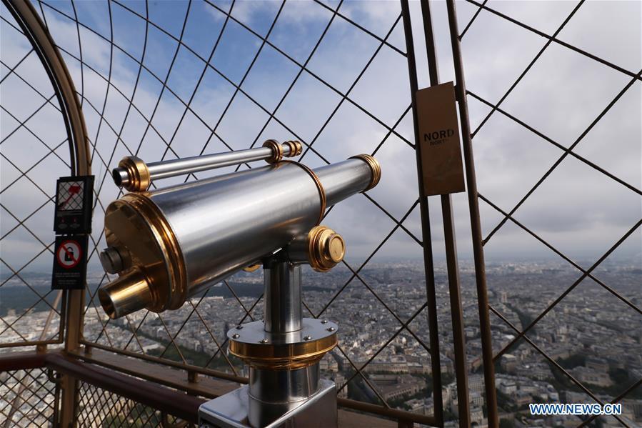 FRANCE-PARIS-EIFFEL TOWER-TOP-REOPENING