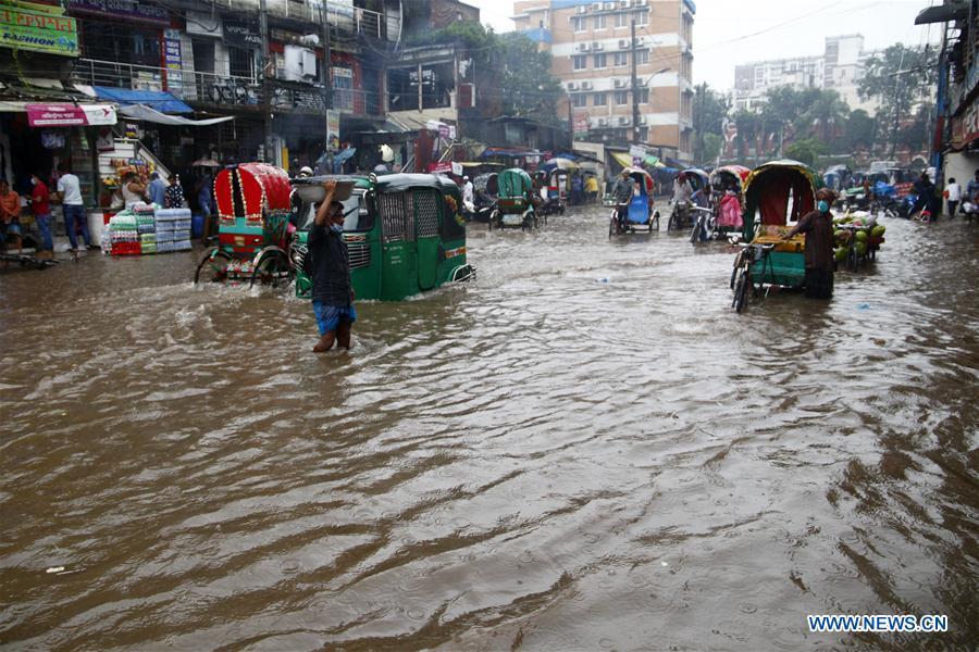 孟加拉国-达卡-雨