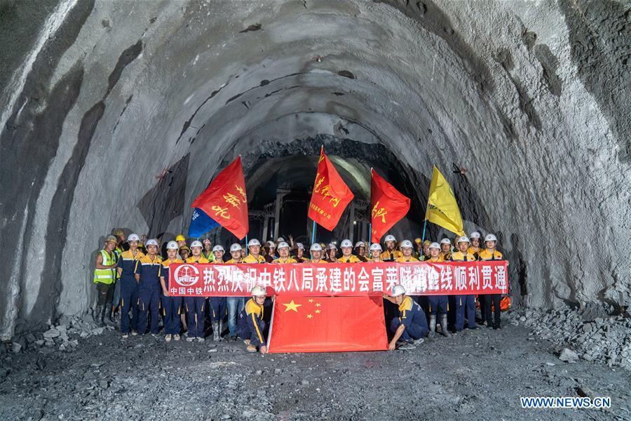 老挝铁路隧道完成