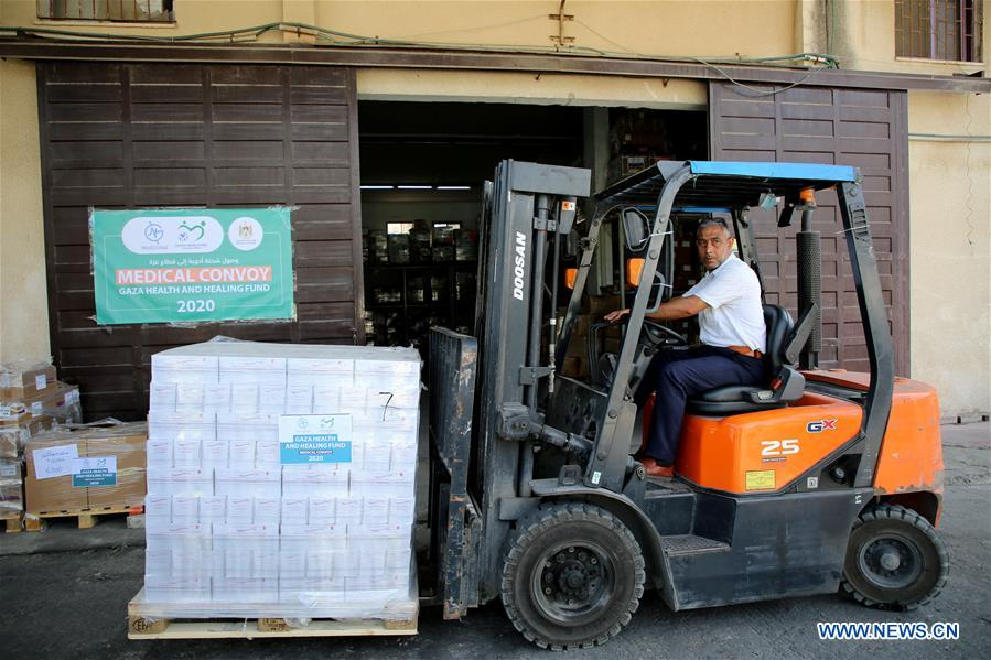 中东加沙医疗物资捐赠