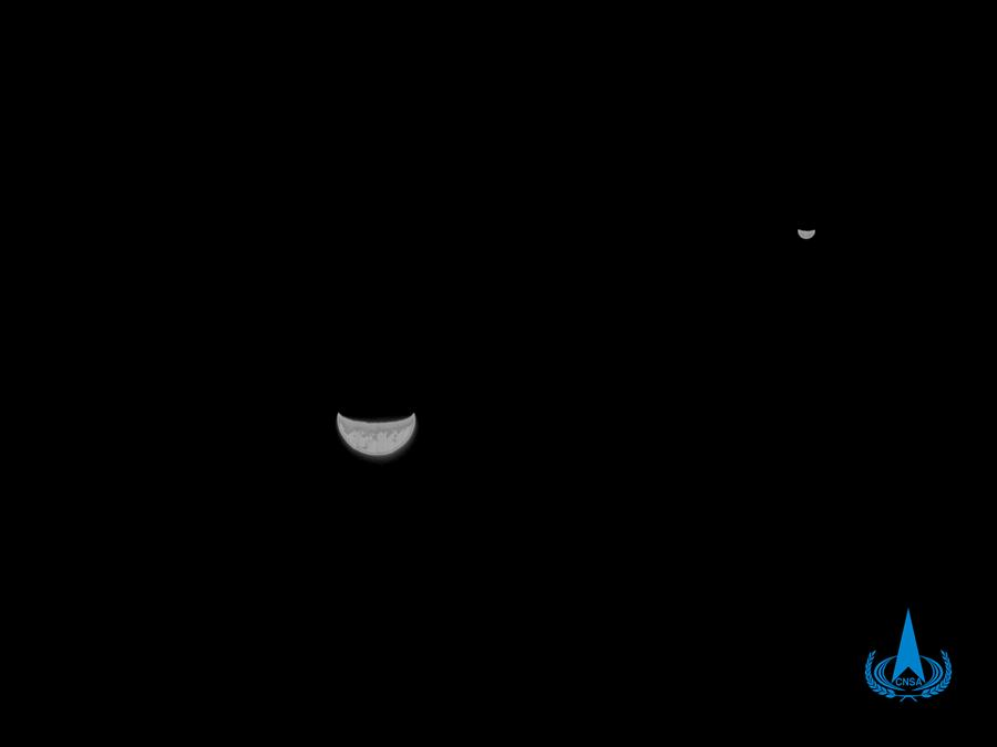(EyesonSci)中国-火星探测图像-地球和月亮