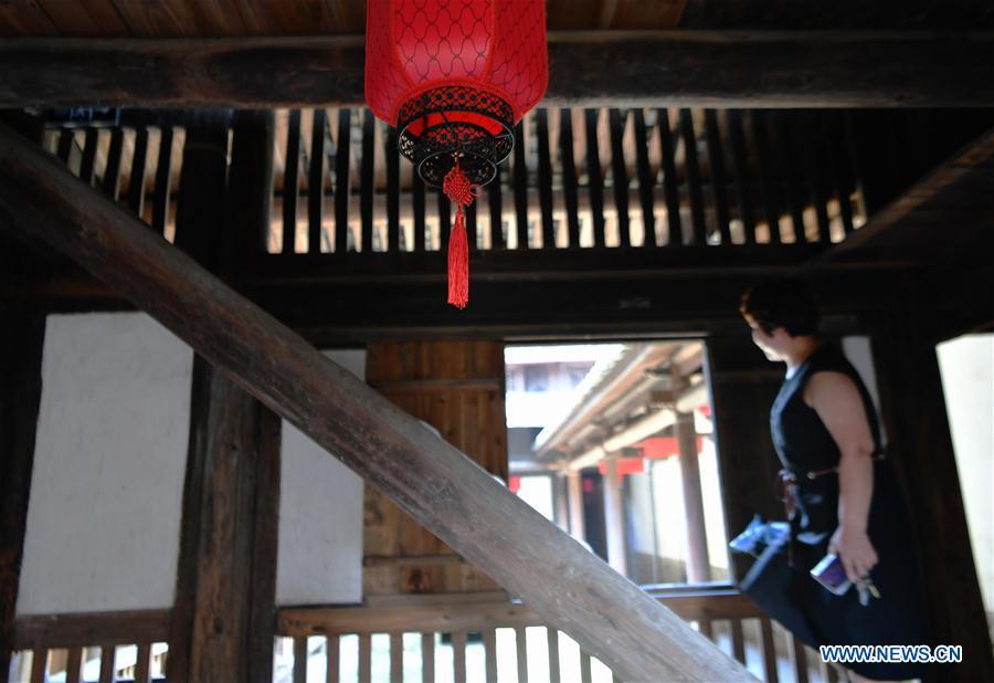 图片:中国福建省新湖村保存完好的古民居