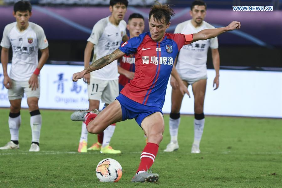 (SP)CHINA-SUZHOU-FOOTBALL-CHINESE SUPER LEAGUE-SHANGHAI SIPG VS QINGDAO HUANGHAI (CN)
