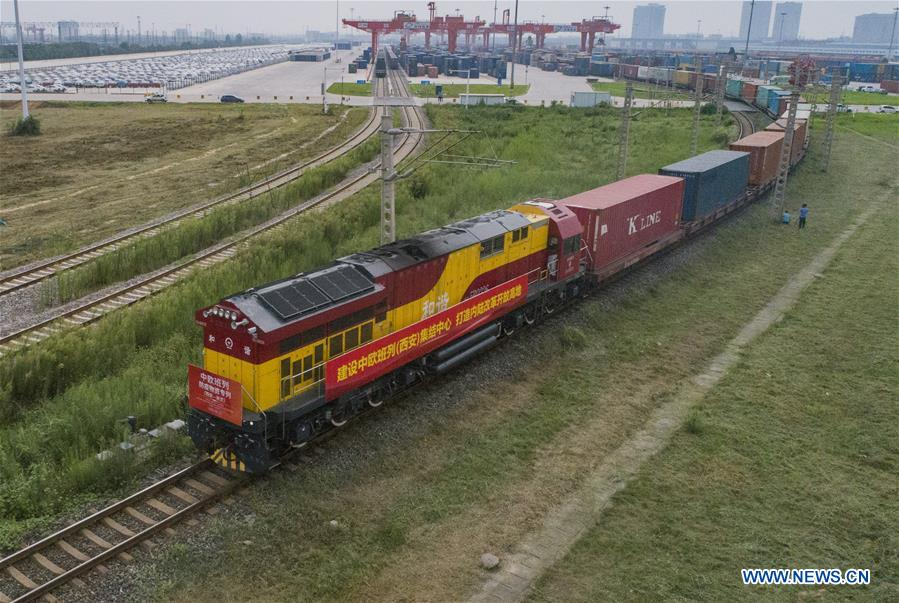 #CHINA-SHAANXI-XI'AN-FREIGHT TRAIN-COVID-19-SUPPLIES (CN)