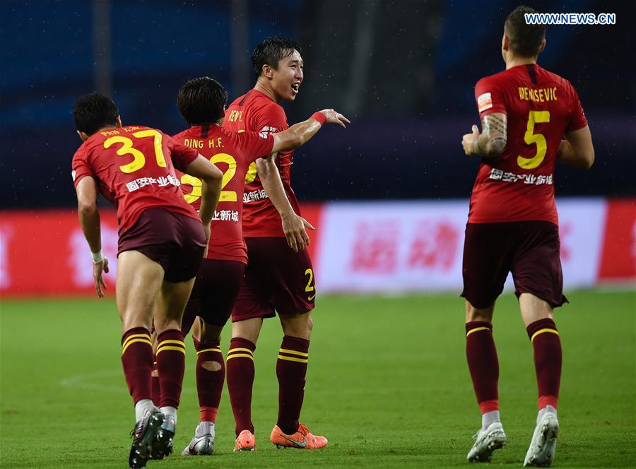 (SP)中国-苏州-足球-中国超级联赛-石家庄VS河北(CN)