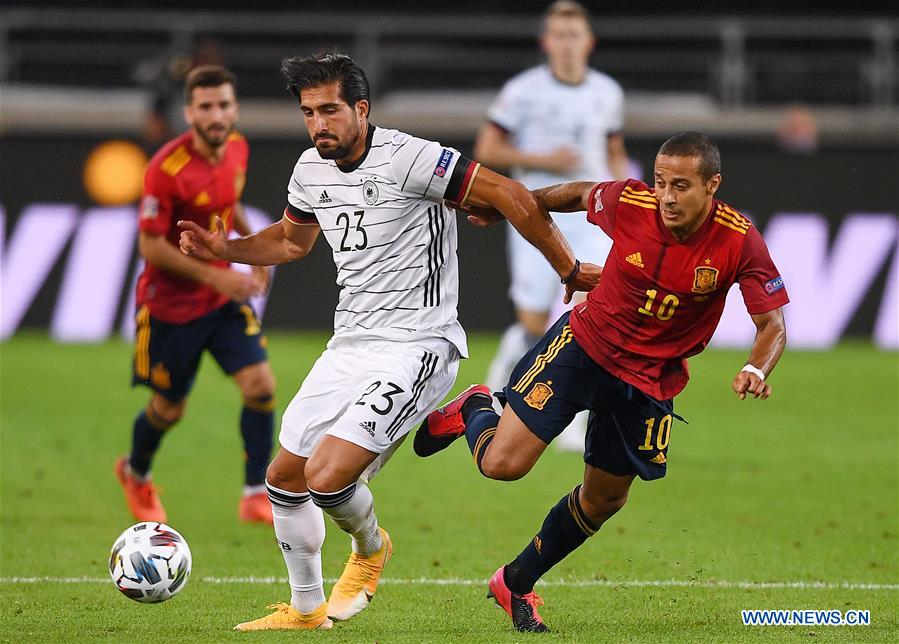 Spain Snatch Late Draw Against Germany In Uefa Nations League Xinhua English News Cn