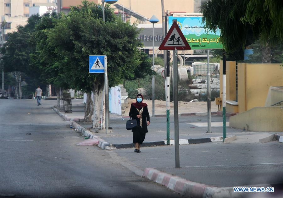 MIDEAST-GAZA CITY-COVID-19-LOCKDOWN