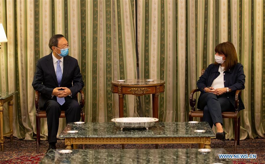 希腊-雅典总统-中国-杨洁CHI会议