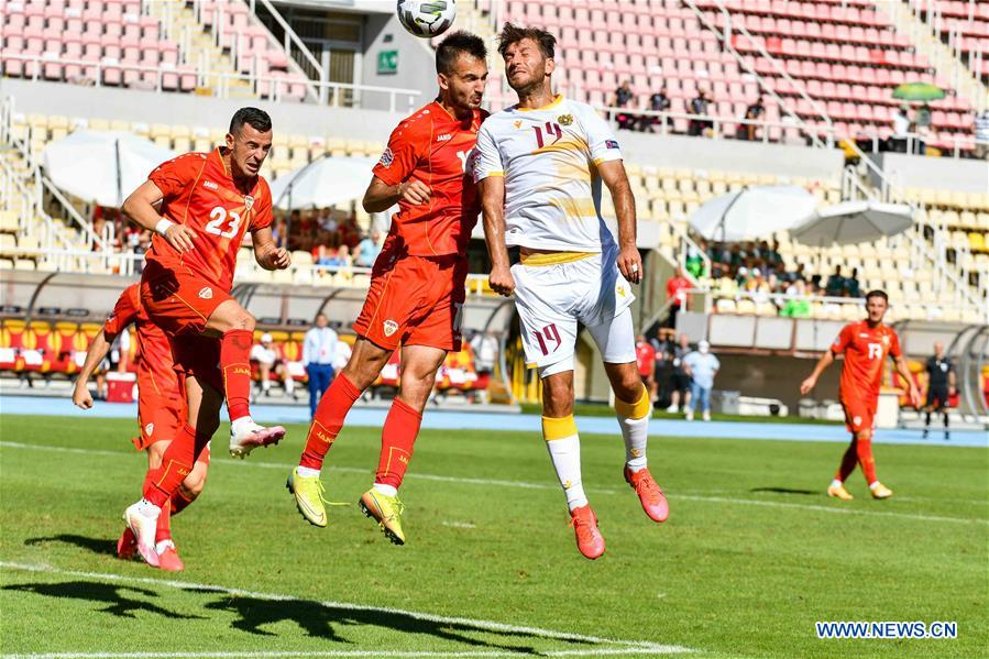 In Pics Uefa Nations League Match Between North Macedonia And Armenia Xinhua English News Cn