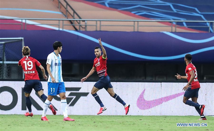 (SP)中国-苏州-足球-中国超联赛-重庆VS天津(CN)