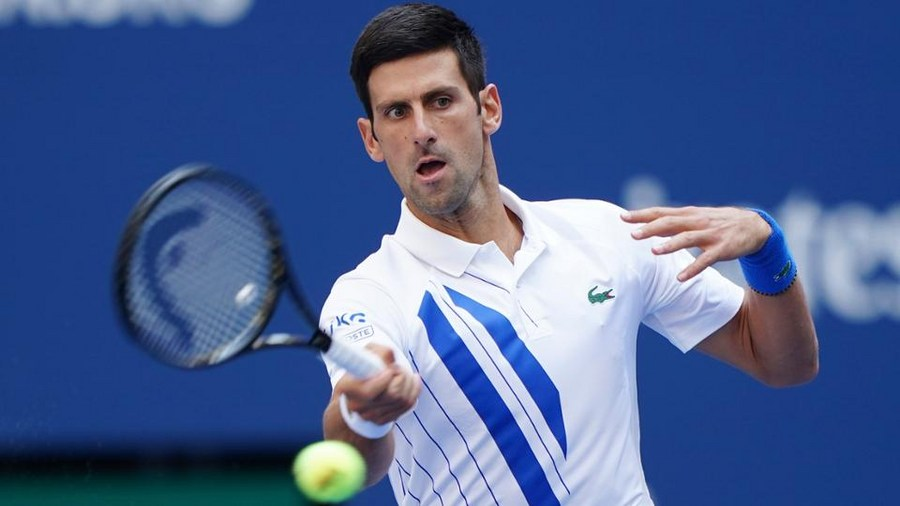Djokovic Disqualified From Us Open After Hitting Line Judge With Ball Xinhua English News Cn