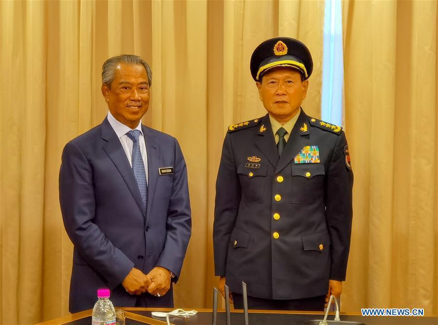 马来西亚总理会见中国国防部长关于双边合作