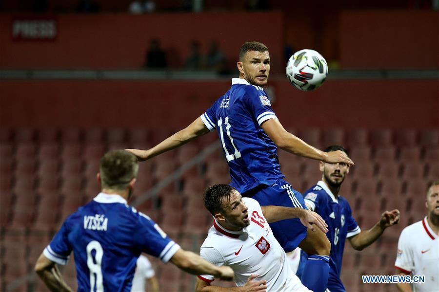(SP)波斯尼亚和黑塞哥维那-泽尼卡-足球-欧洲国家联盟波斯尼亚和黑塞哥维那VS波兰