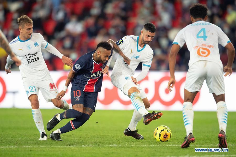 Paris Saint Germain Vs Olympique De Marseille In Ligue 1 Match Xinhua English News Cn