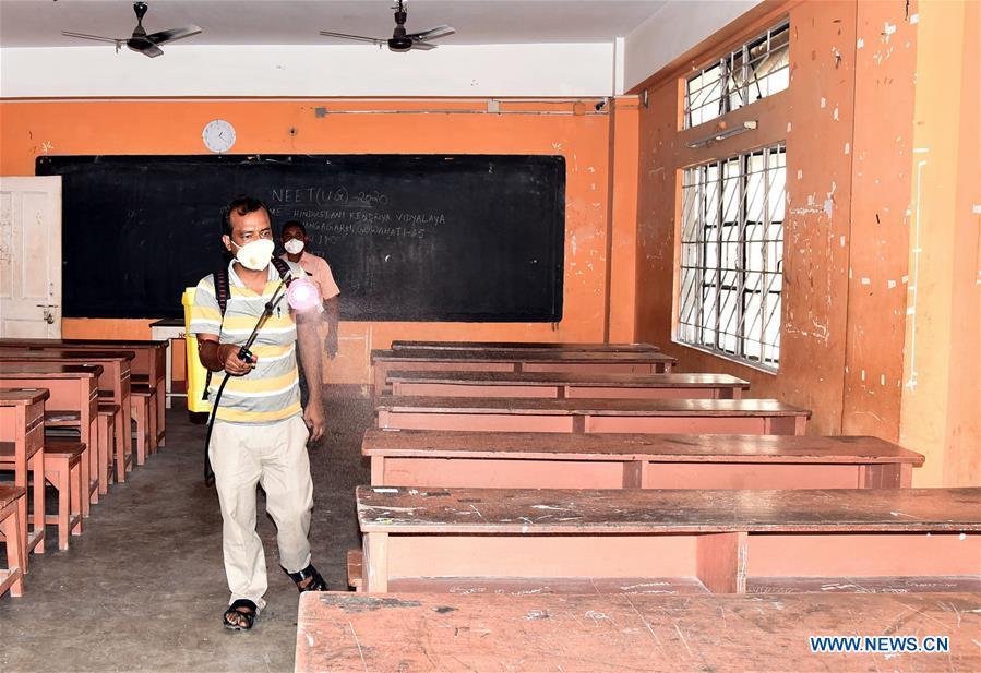 印度ASSAM COVID-19学校重新开放
