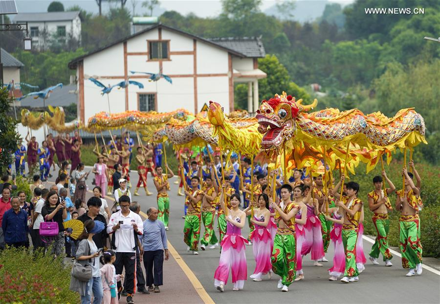 CHINA-CHONGQING-TONGLIANG-DRAGON DANCE-HARVEST FESTIVAL (CN)