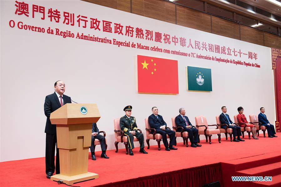 CHINA-MACAO-NATIONAL DAY-RECEPTION (CN)