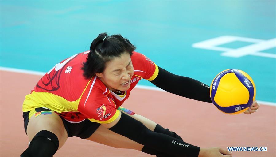 (SP)CHINA-JIANGMEN-VOLLEYBALL-CHINESE WOMEN'S CHAMPIONSHIP(CN)