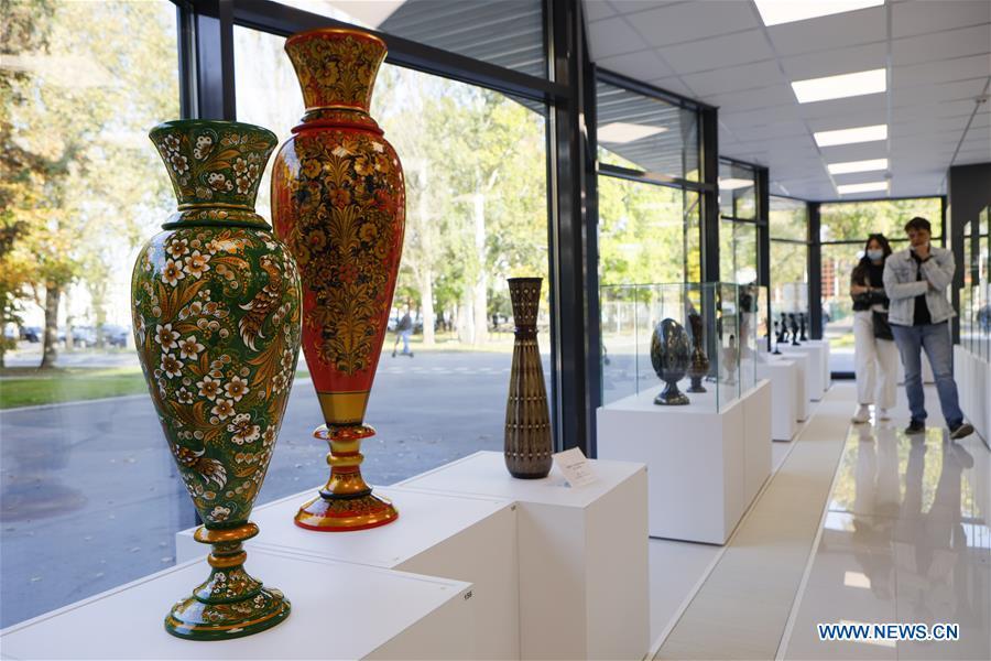 俄罗斯莫斯科民间艺术和工艺品展览