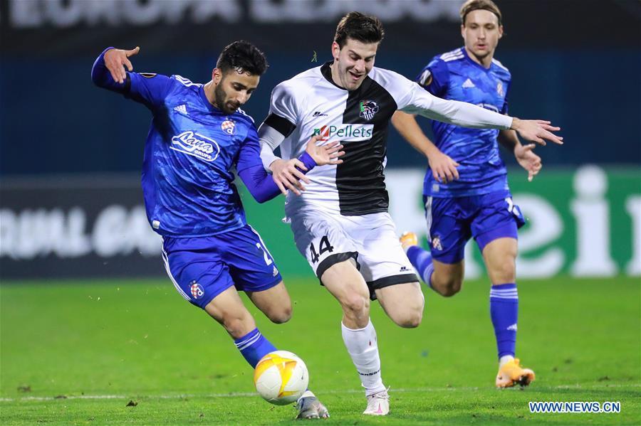 Uefa Europa League Gnk Dinamo Zagreb And Wolfsberger Ac Xinhua English News Cn