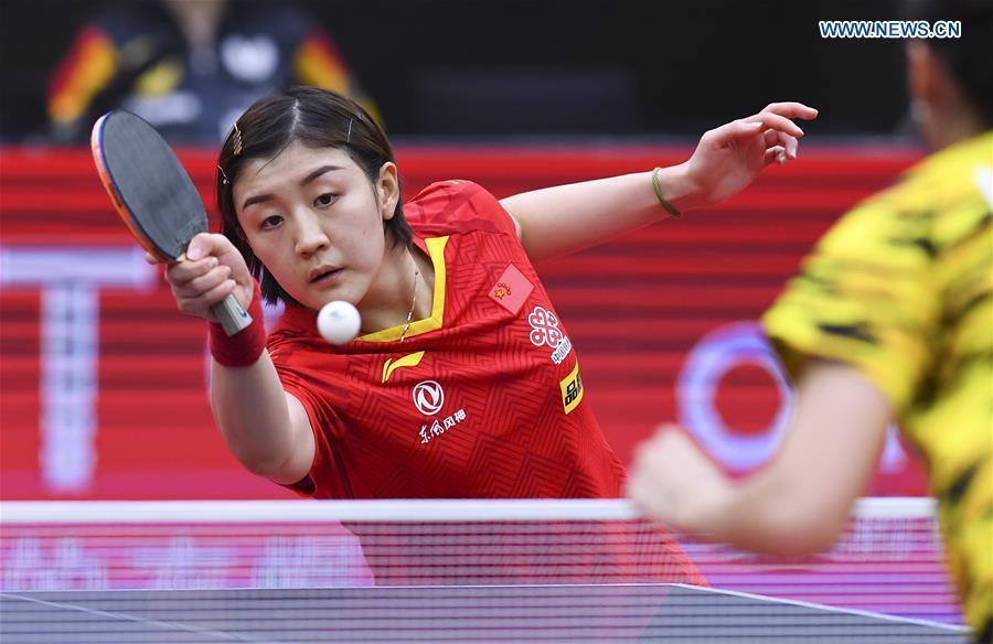 (SP)中国-威海-乒乓球-ITTF-女士的世界杯(CN)